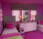 دکوراسیون داخلی اتاق خواب و پذیرایی به رنگ بنفش ارغوانی و یاسی | طراحی دکوراسیون داخلی