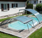 سیستم روکش های جمع شوی استخر | طراحی استخر | سیستم سقف متحرک استخر